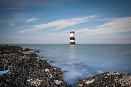 brougham: Brougham Lighthouse Stock Photo
