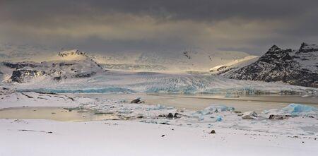 Situated at the head of the Vatnajökull glacier near jokulsarlon.