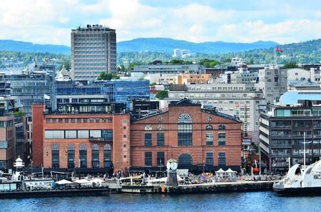 Buildings in Oslo Harbor, Norway