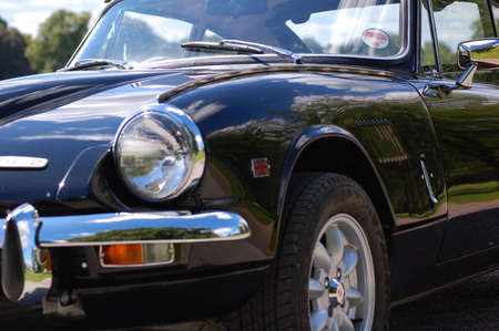 seater: British classic sports car 1960s 60s black Triumph GT6 Spitfire