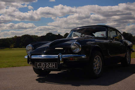 British classic sports car 1960s 60s black Triumph GT6 Spitfire