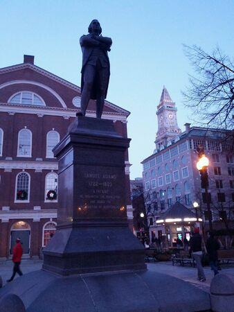 samuel: Boston statue Stock Photo