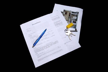 outgoings: Mietvertrag II Rental Agreement Stock Photo