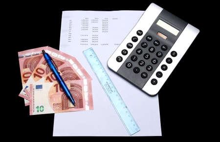 outgoings: Balance Sheet III Stock Photo