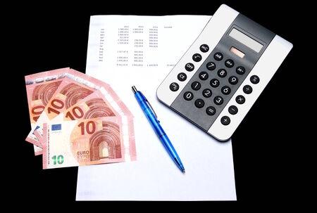 outgoings: Balance Sheet II Stock Photo