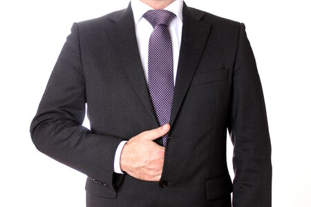 L'uomo che indossa un vestito di affari