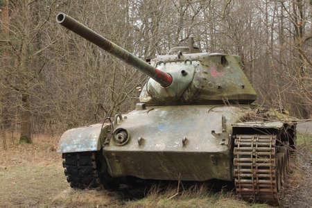 Abandoned vintage tanks photo