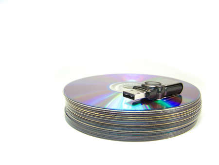 usb memory on several compact discs