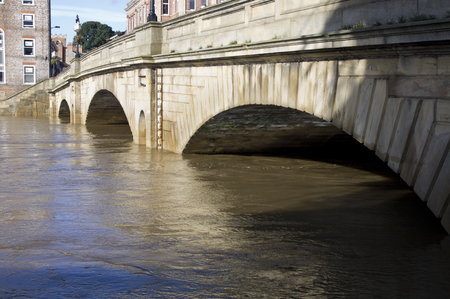 autmn: River Ouse York England in Flood