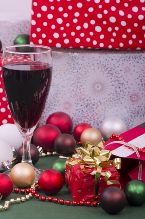 christian festival: Christmas Parcels and Red Wine