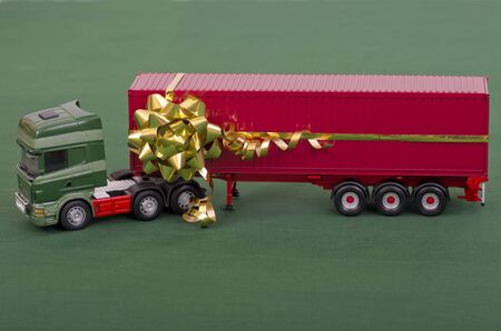 Delivering Christmas Concept Stock Photo