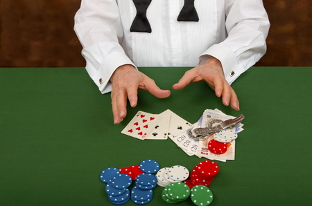 gambler: The Gambler Losing Stock Photo
