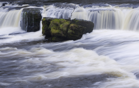 ure: Aysgarth falls on the River Ure in North Yorkshire England
