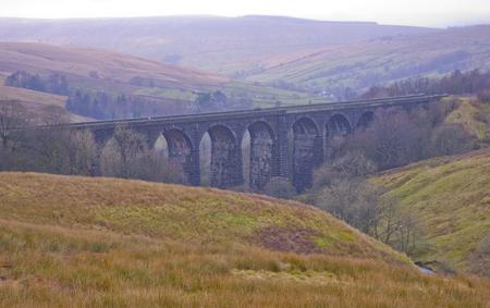 yorkshire dales: Denthead Viaducto. Yorkshire Dales National Park Foto de archivo