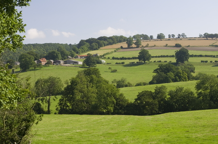 color photographs: The Yorkshire Wolds are the most northern chalk hills in England with rolling dales and valleys.