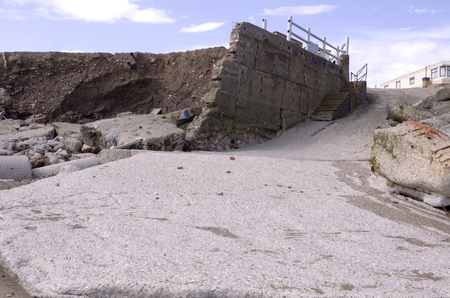 coastal erosion: East Yorkshire Coast Erosion.  The East Yorkshire coast has some of the worst coastal erosion in Europe and it continues to see properties and roads disappear at an alarming rate.