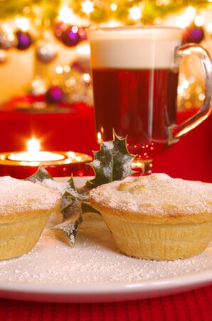 irish christmas: Christmas Mince Pie and Irish Coffee