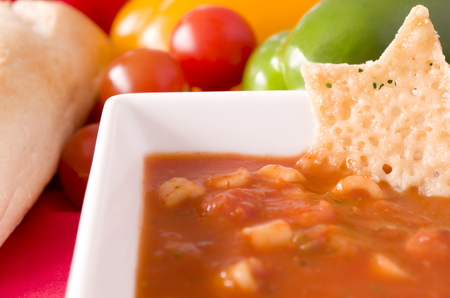 wafer: Minestrone Soup and Parmesan Wafer
