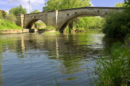 east riding: Bridge over the River Derwent, Stamford Bridge. Famous for the 1066 battle of Stamford Bridge