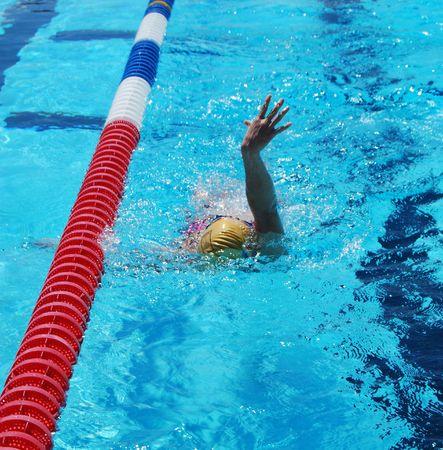 backstroke: Woman Swimming the Backstroke
