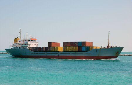 Miami Bound Caribbean Container Ship photo