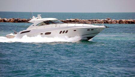 White Luxury Sport Fishing Boat