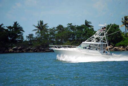 スポーツ釣りチャーター ボート 写真素材
