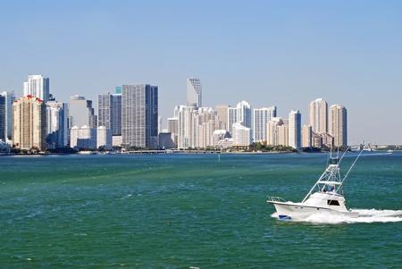 sportfishing: Condos and Sportfishing Boat on Biscayne Bay