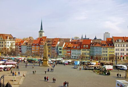 erfurt: Marketplace in Erfurt,Germany
