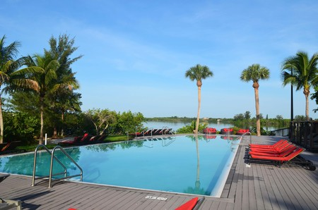 Adult only infinity pool at a resort in Central Florida Editorial