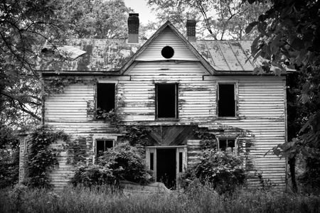 Old abandoned scary house