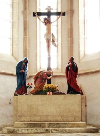 Jesus on crucifix