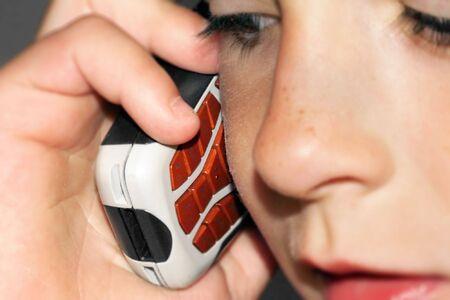 a boy makes a call
