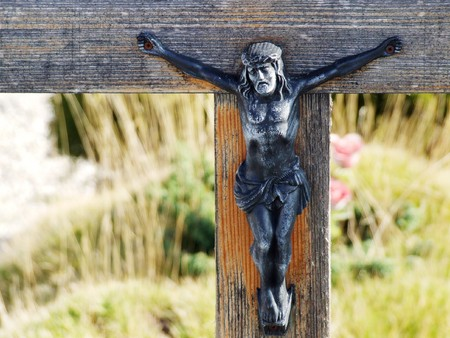 jesus on crucifix Stock Photo