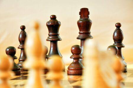 chess pieces Stock Photo