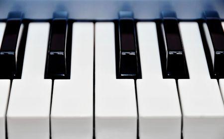 keys from a piano Stock Photo