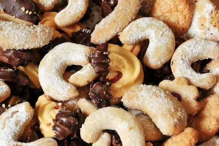 miscellaneous cookies side by side Stock Photo