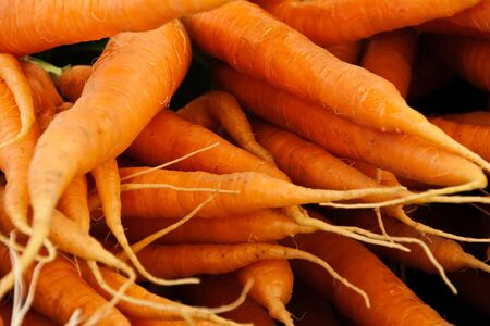 a few of carrots side by side Stock Photo