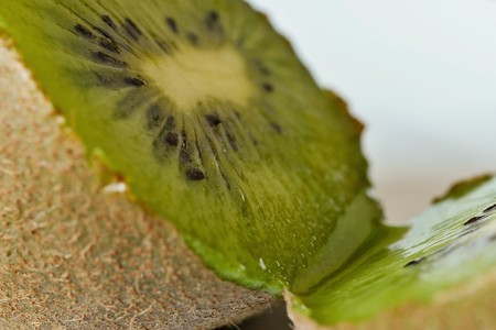 A cloesup of a kiwi Stock Photo