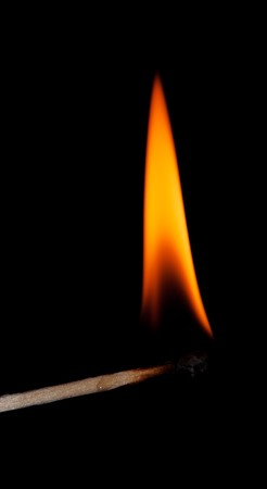 A match with a flame