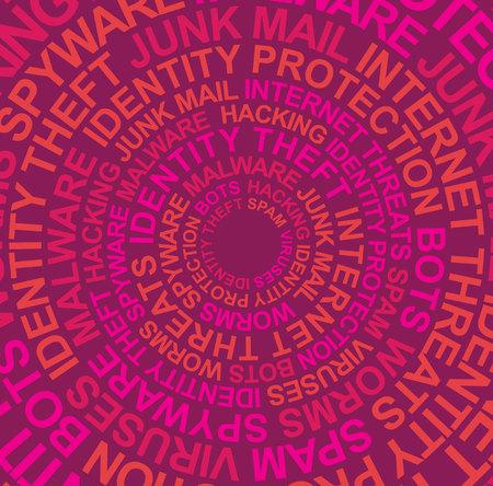 fraudster: Intrusioni nel computer colori caldi  Vettoriali