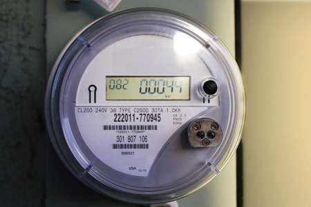 Front View of Outdoor Electric Meter Panel
