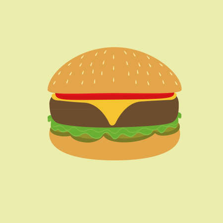 fash: Burger illustration