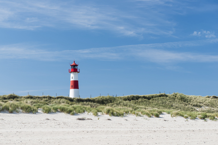 picket green: Lighthouse on dune horizontal