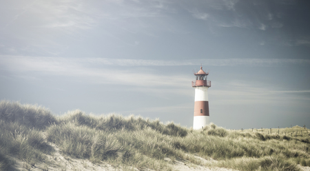 picket green: Lightouse on dune - changed color for vintage effect.