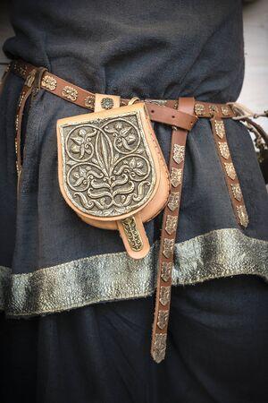 leather bag: Viking leather bag.