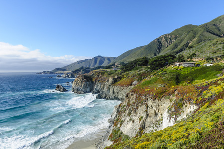 sur: California coast, Big Sur, view from highway no. 1 Stock Photo