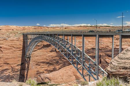 Glen Canyon Dam. Stock Photo