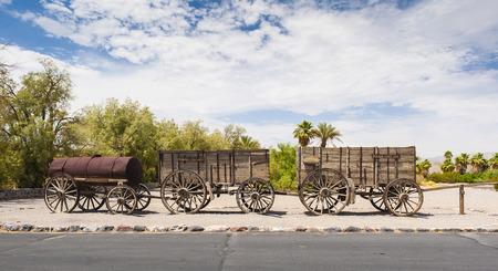mule train: Twenty Mule Team Wagon Train in Death Valley National Park