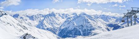 Alpe mountains winter view. Standard-Bild